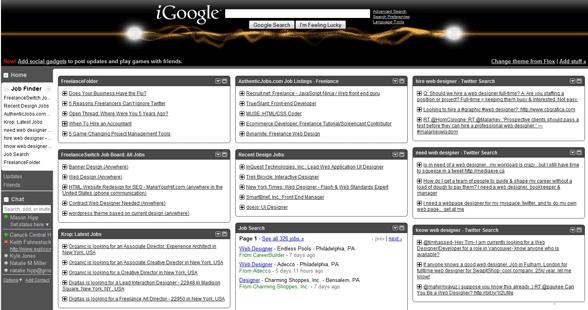 Настройка iGoogle для быстрого поиска клиентов